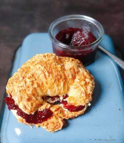 Cheese croissant homemade blackberry jam recipe