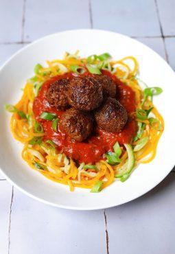 grasshopper meatballs dinner pasta recipe