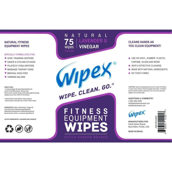 Wipex fitness lavender label