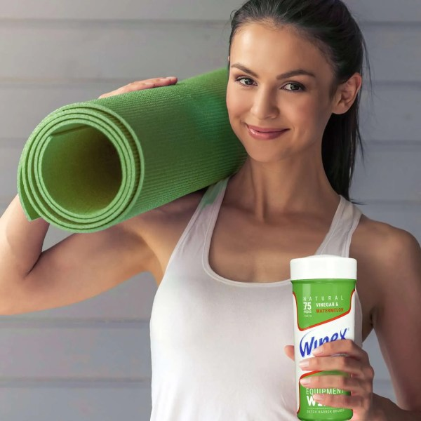 Wipex fitness watermelon Yoga lady holding canister