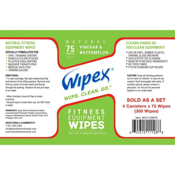 Wipex fitness watermelon label