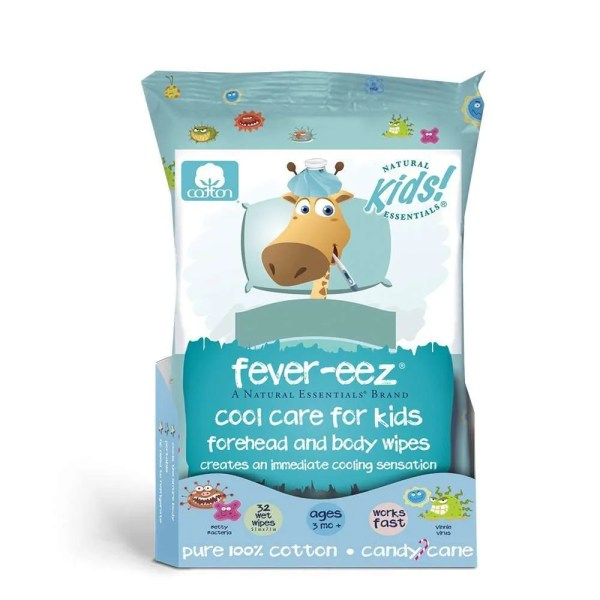 Fever Cooling Wipes for Kids and Babies