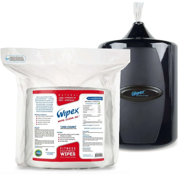 Wipex Gym Wipes 1200 with Wall Dispenser