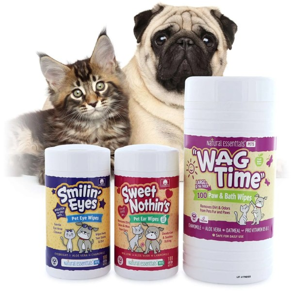 natural essentials pets wipes