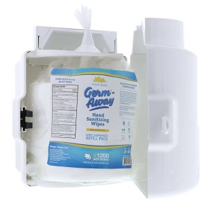 Germ-Away Dispenser with Refill Pouch