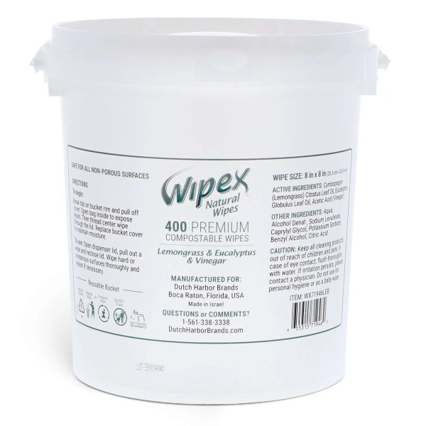 wipex lemongrass eucalyptus 400 count bucket fitness wipes