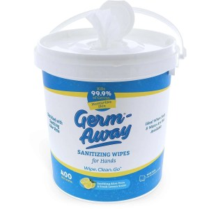 Germ-Away 400 Bucket Lemon Scent Front Wipe