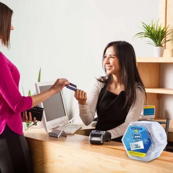 Germ-Away Hex Jar Cashier Counter Display