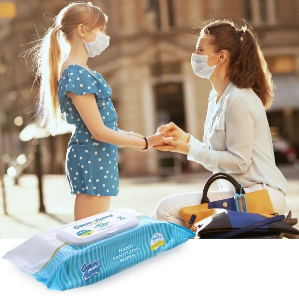 Germ-Away 72ct Softpack of sanitizing wipes for travel