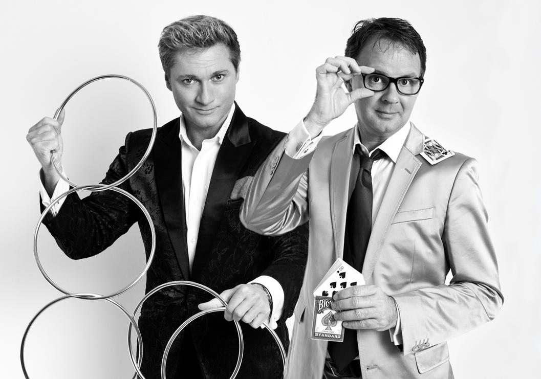 duo-act Magic van goochelaar Ronald MOray en goochelaar Peter Vogel
