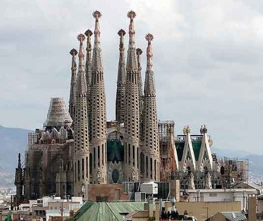 De Sagrada Familia in Barcelona
