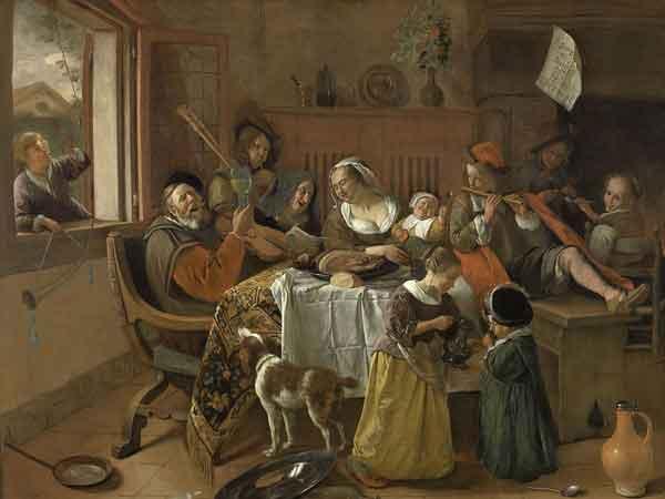Jan Steen, Het vrolijke huisgezin, Rijksmuseum
