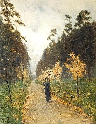 Isaak Levitan - Herfstdag. Sokolniki. (1879)