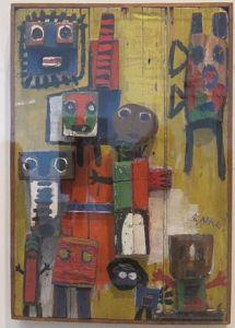 Karel Appel - Vragende kinderen in een 3-dimensionale versie 1949