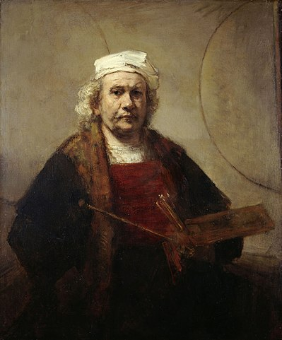 Rembrand - Zelfportret met twee cirkels (ca. 1665-1669)