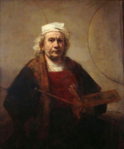 Rembrandt - Zelfportret met twee cirkels (1665-1669)