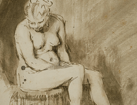 Rembrandt's Seated Female Nude: The Art Institute of Chicago