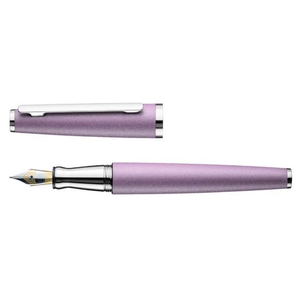 Otto Hutt_Design06_Lavender Matt Platinum_Fountain Pen