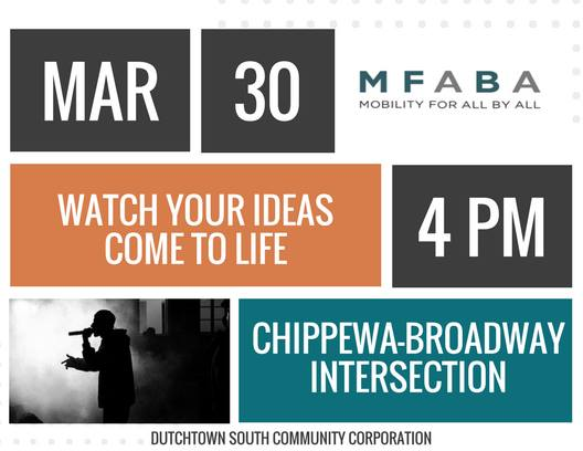 Poster for Collisions: Transit & Hip-Hop. March 30th, 4pm at Chippewa and Broadway.