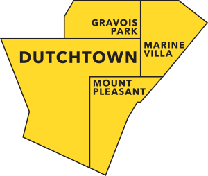 Official City of St. Louis neighborhoods in the Dutchtown area.
