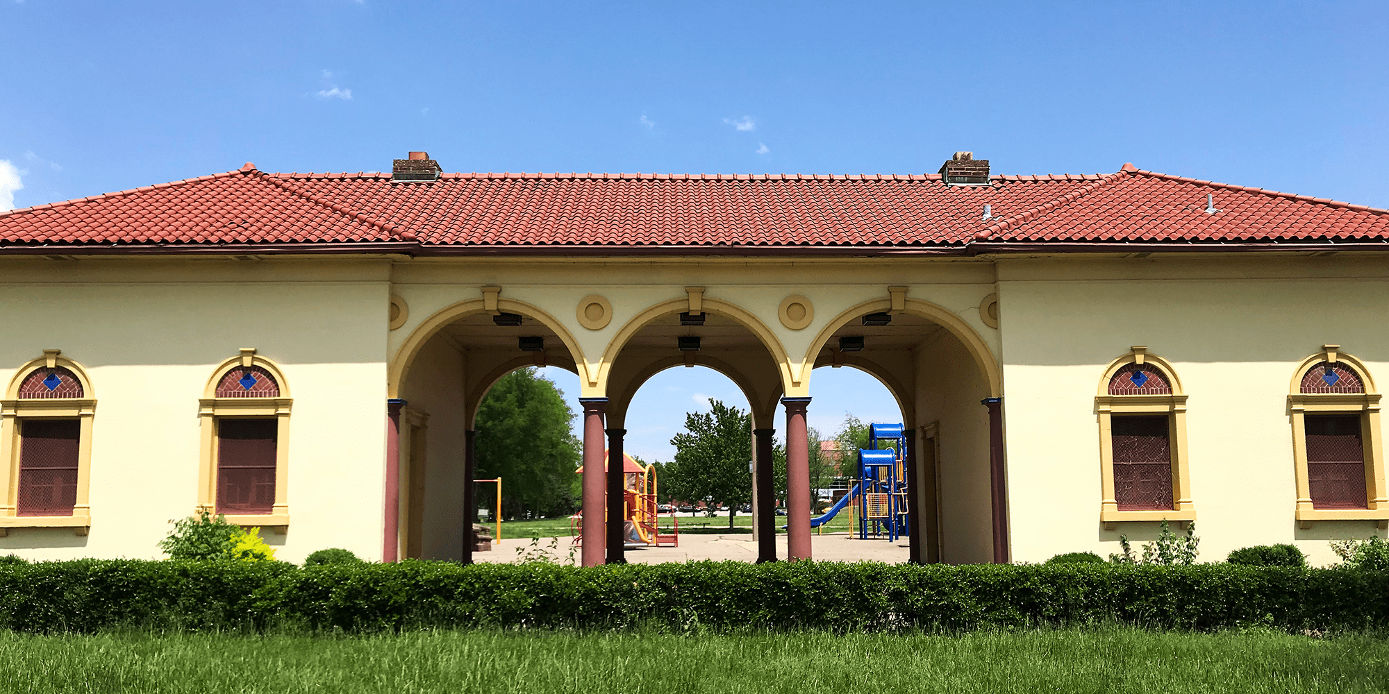 The pavilion at Minnie Wood Memorial Square. Photo by Nick Findley.