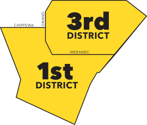 Map of SLMPD Districts in Dutchtown.