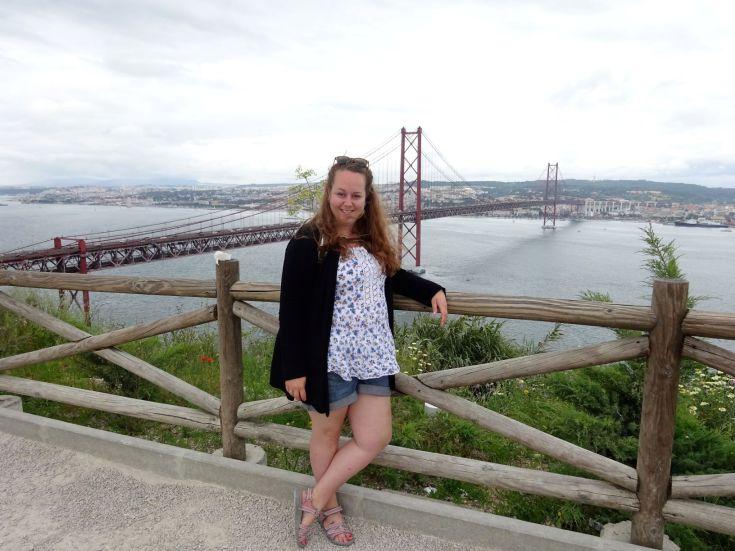 Uitzicht op de Ponte 25 de Abril