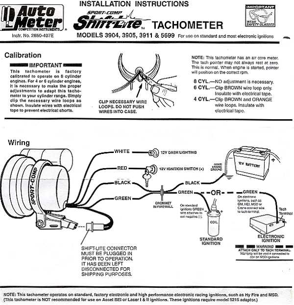 Autometer Tachometer Wiring Diagram: Charming Auto Gauge Tach Wiring Diagram Ideas - Electrical Circuit ,Design