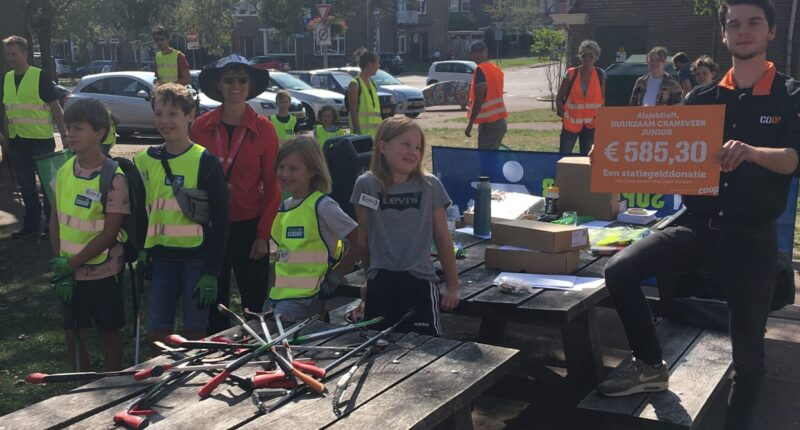 Duurzaam Craneveer Junior en World Cleanup Day - check Coop statiegeldactie