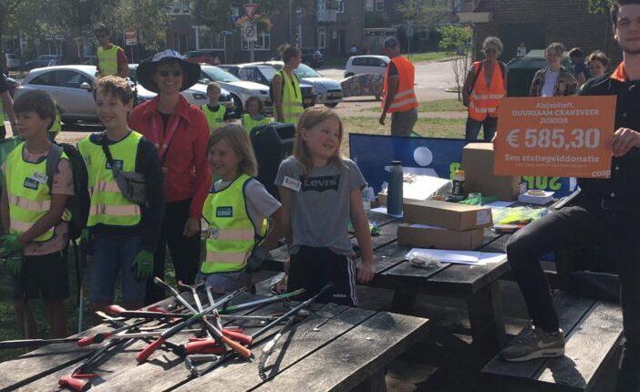 Duurzaam Craneveer Junior en World Cleanup Day - check Coop statiegeldactie