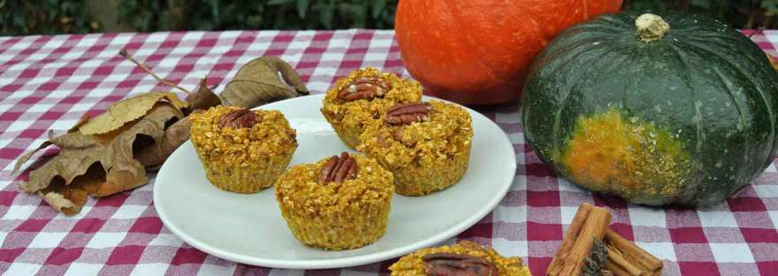 Herfstige ontbijtmuffins met pompoen en pumpkin spice