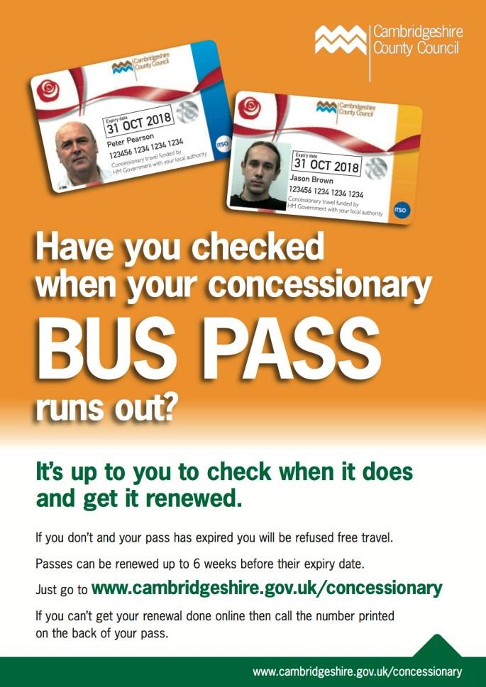 bus pass renewal