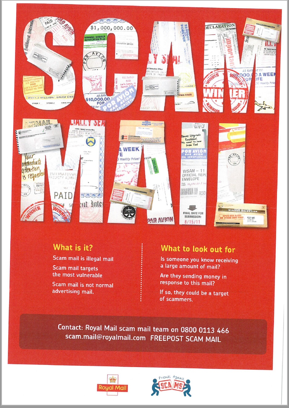 Watch out for scam mail