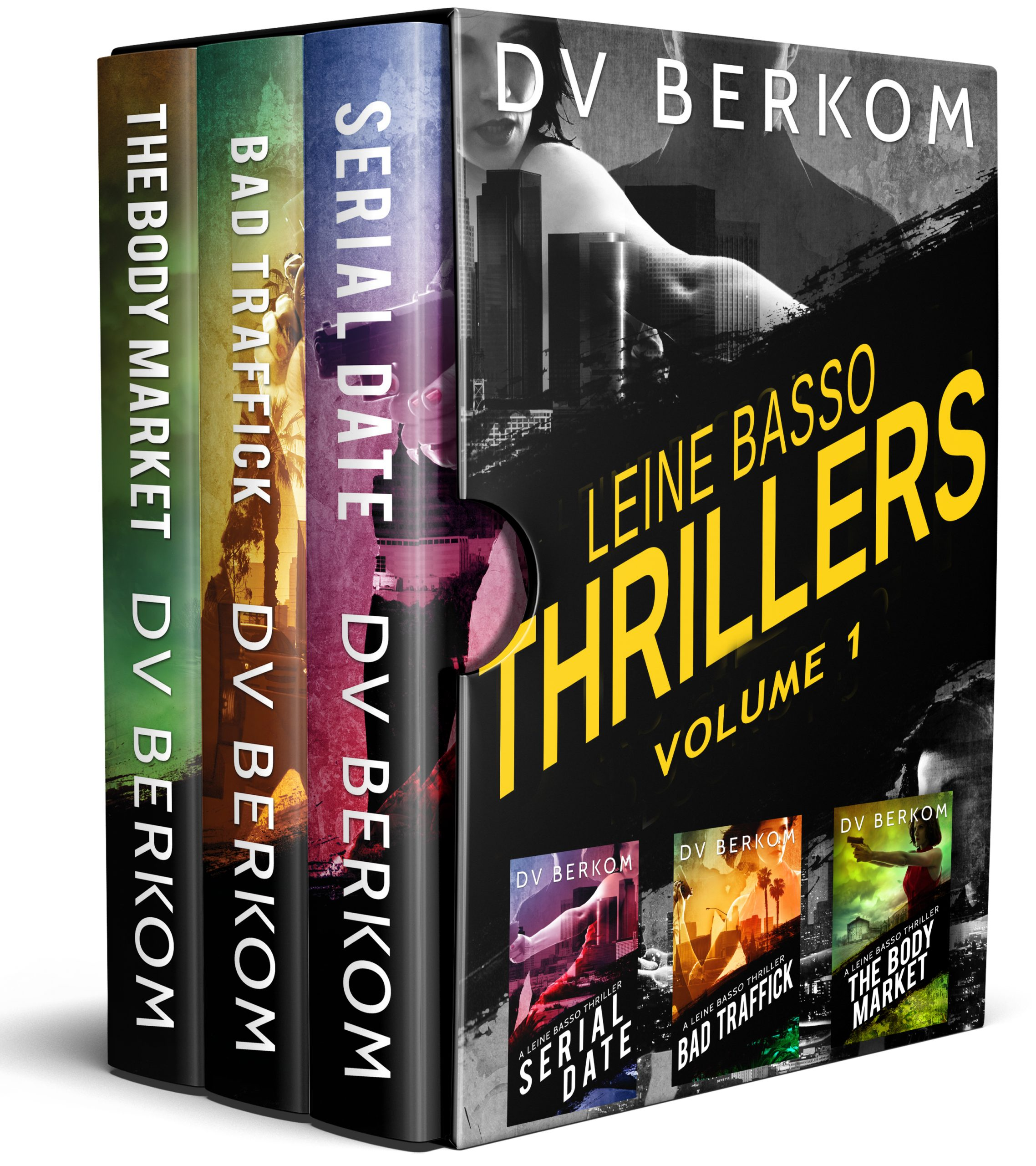 cover for leine basso thriller boxed set