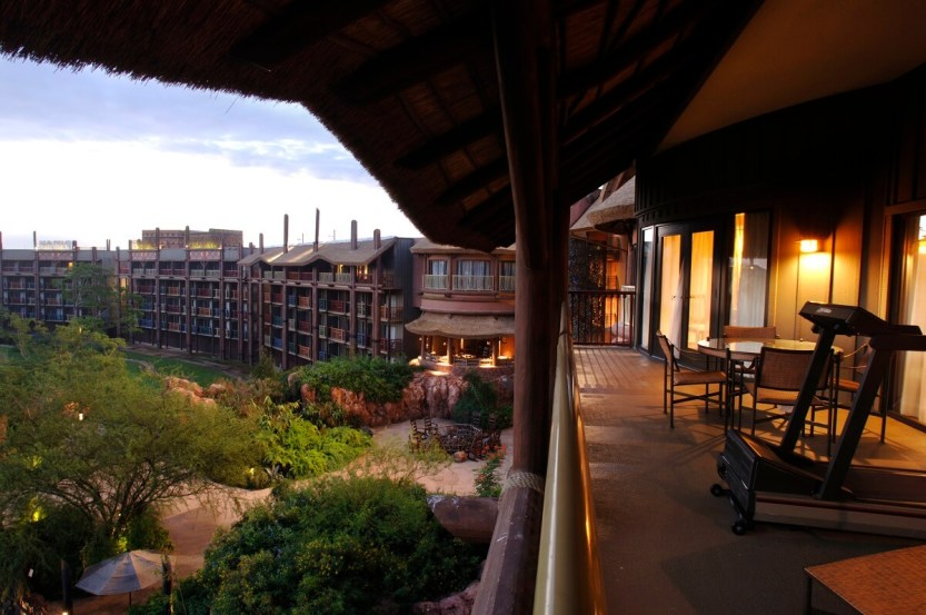 DVC villas view from the balcony