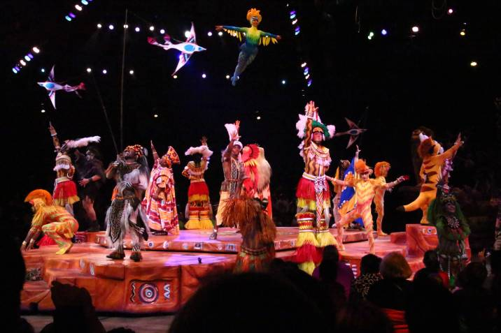 Festival of the lion king cast on stage performing
