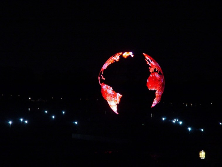 Epcot IllumiNations reflections of earth red globe