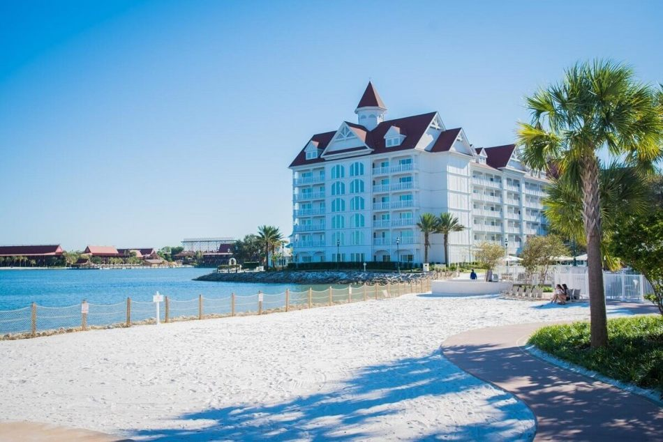 Disney's Grand Floridian viewed from the beach
