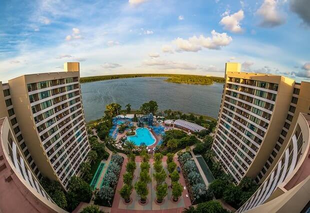 Bay Lake Tower at Disney's Contemporary Resort aerial view