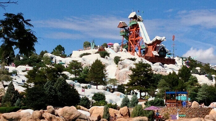 View of Blizzard Beach from afar