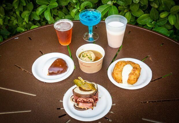 Food at Holiday Kitchens during Epcot International Festival of the Holidays