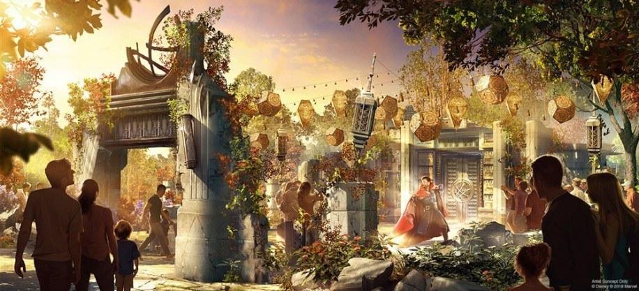 Doctor Strange Marvel land at Disney concept art