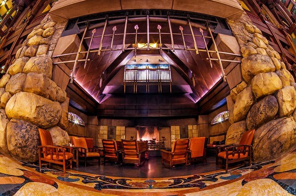 Disney's Grand Californian DVC resort fireplace