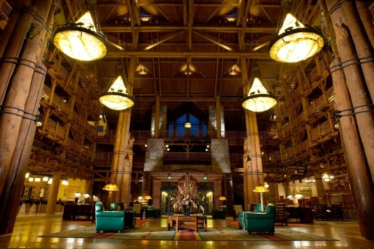 Inside Disney's Wilderness Lodge Lobby