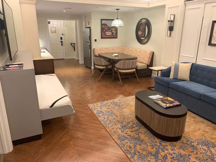 Living room inside the Riviera Resort at Disney World