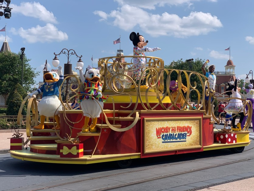 Mickey and Friends Cavalcade unscheduled parade at Disney World