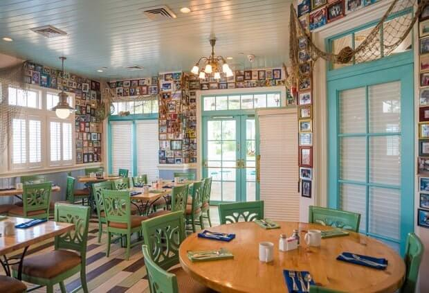 Olivias Cafe dining area at Old Key West DVC