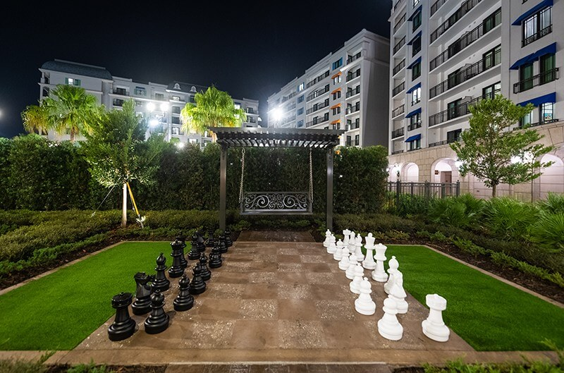 Giant chess board at the Riviera Resort
