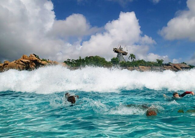 Typhoon Lagoon wave pool view