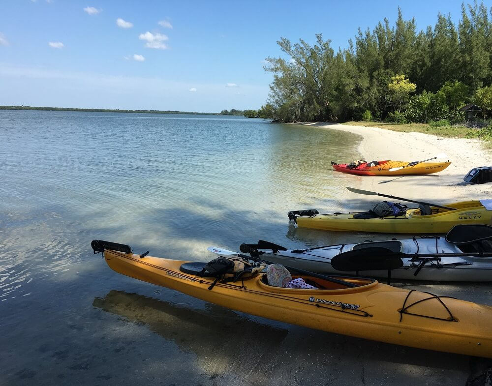 Disney's Vero Beach resort kayaks along the coast line